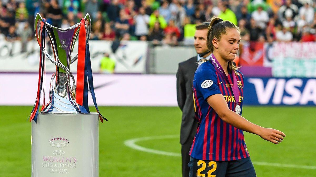 Lieke Martens, tras perder la final de UWCL con el Barça ante el Lyon en 2019