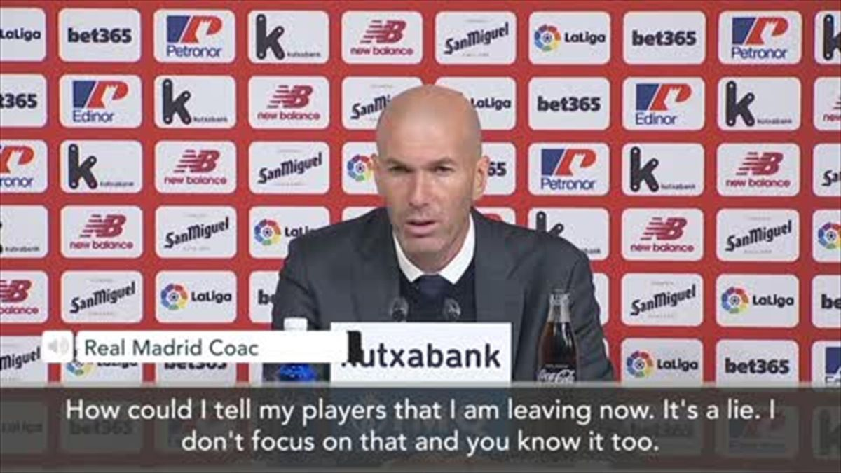 'It's a lie' - Zidane denies reports he's told players he is leaving