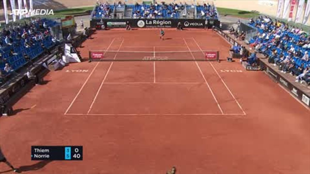 Highlights: Norrie dumps top seed Thiem out in Lyon
