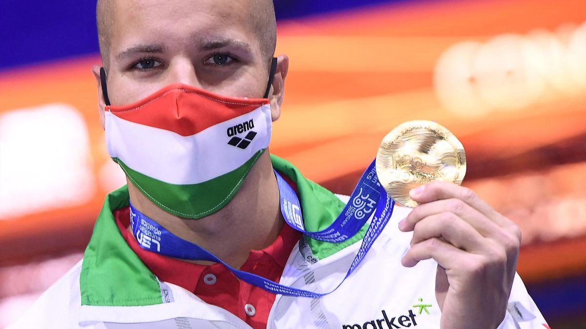 Szabó az első magyar színekben szerzett nagypályás aranyával