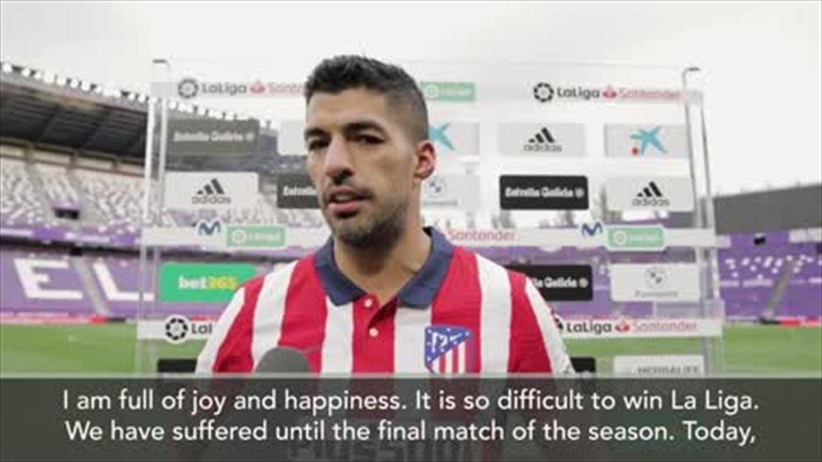 'I thank Atletico for trusting me' Suarez after he scores Liga winning goal