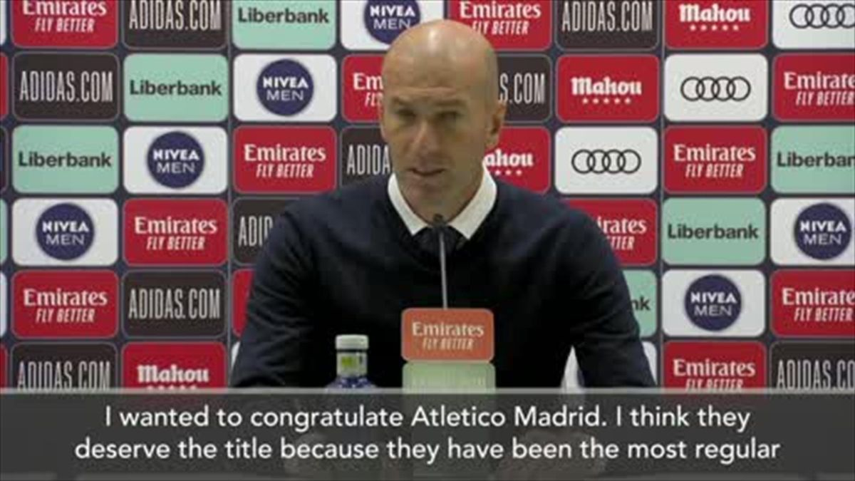 Zidane congratulates Atletico on La Liga title win