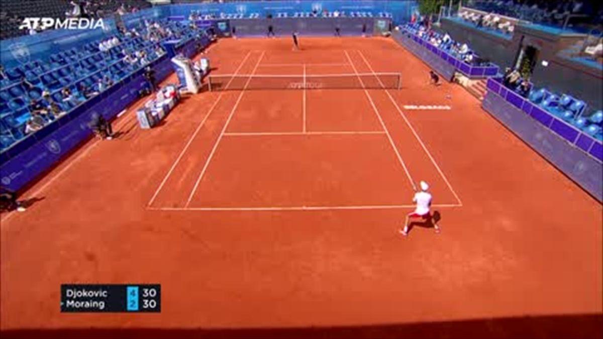 Djokovic overcomes Moraing to reach Belgrade Open quarter-finals