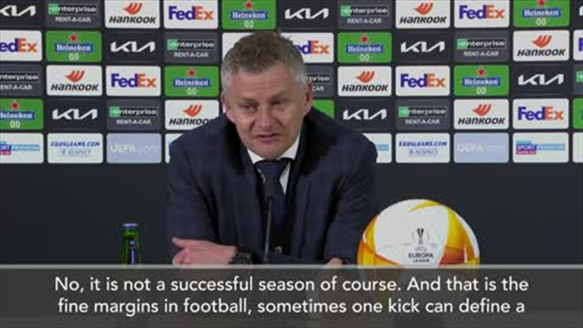 'No it's not a successful season' - Solskjaer after UEL defeat
