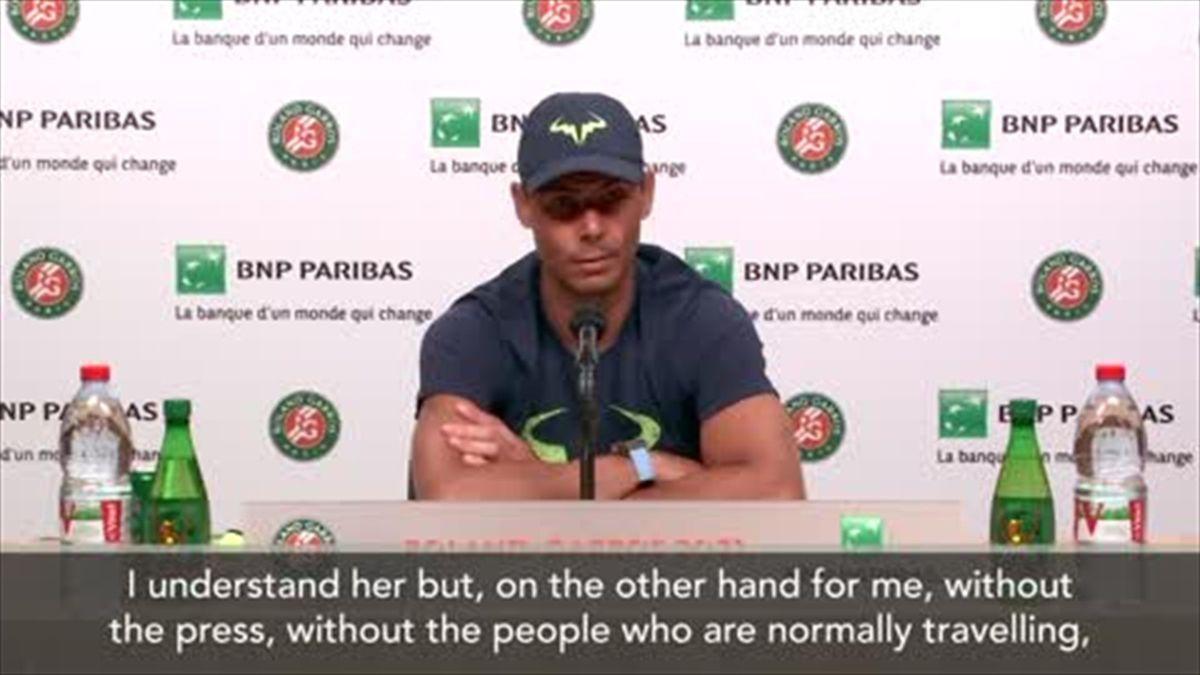 Nadal sees both side of Osaka media debate