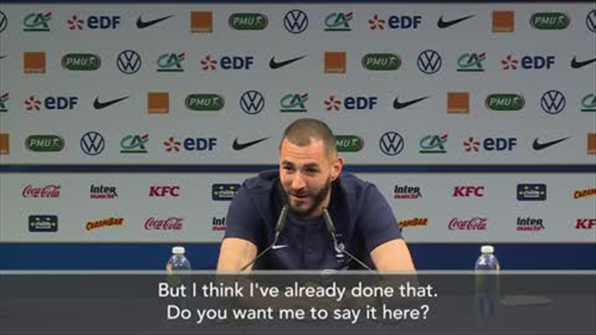 'Thank you Didier!' - Benzema speaks after France return