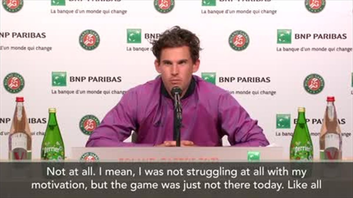 'My game was just not there' - Thiem on his shock exit