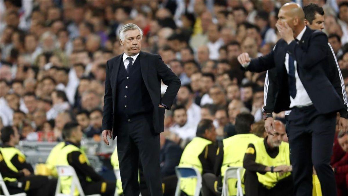 Ancelotti és Zidane a Berbabeuban