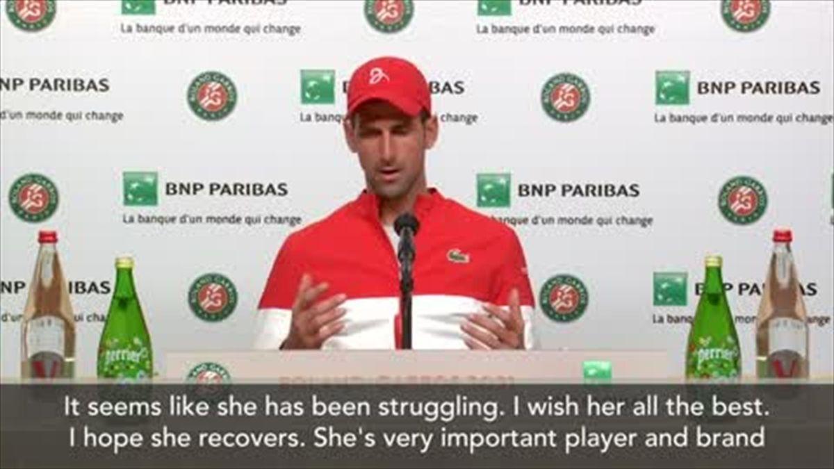'I hope she recovers' - Djokovic 'respects Osaka fully'