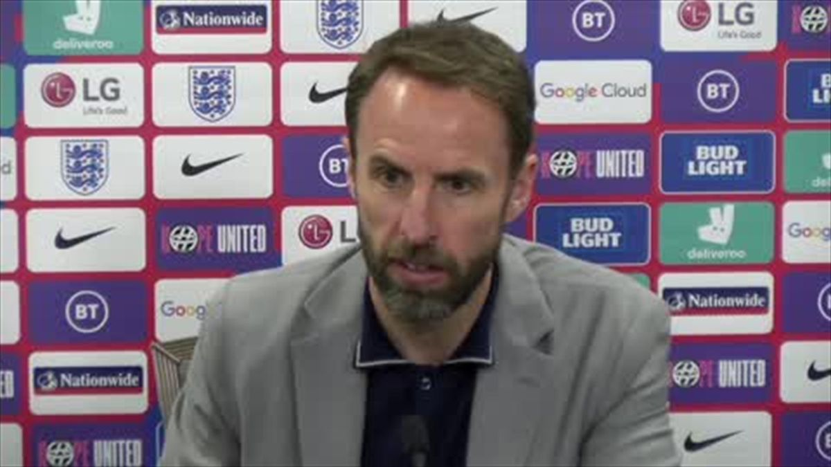 Southgate condemns fans who booed England players taking a knee