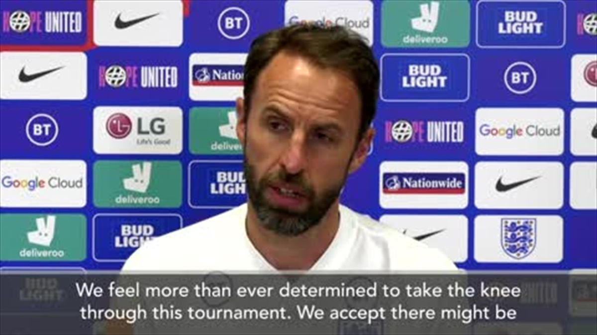 Southgate: England 'more determined than ever to take the knee' at Euro 2020 despite boos