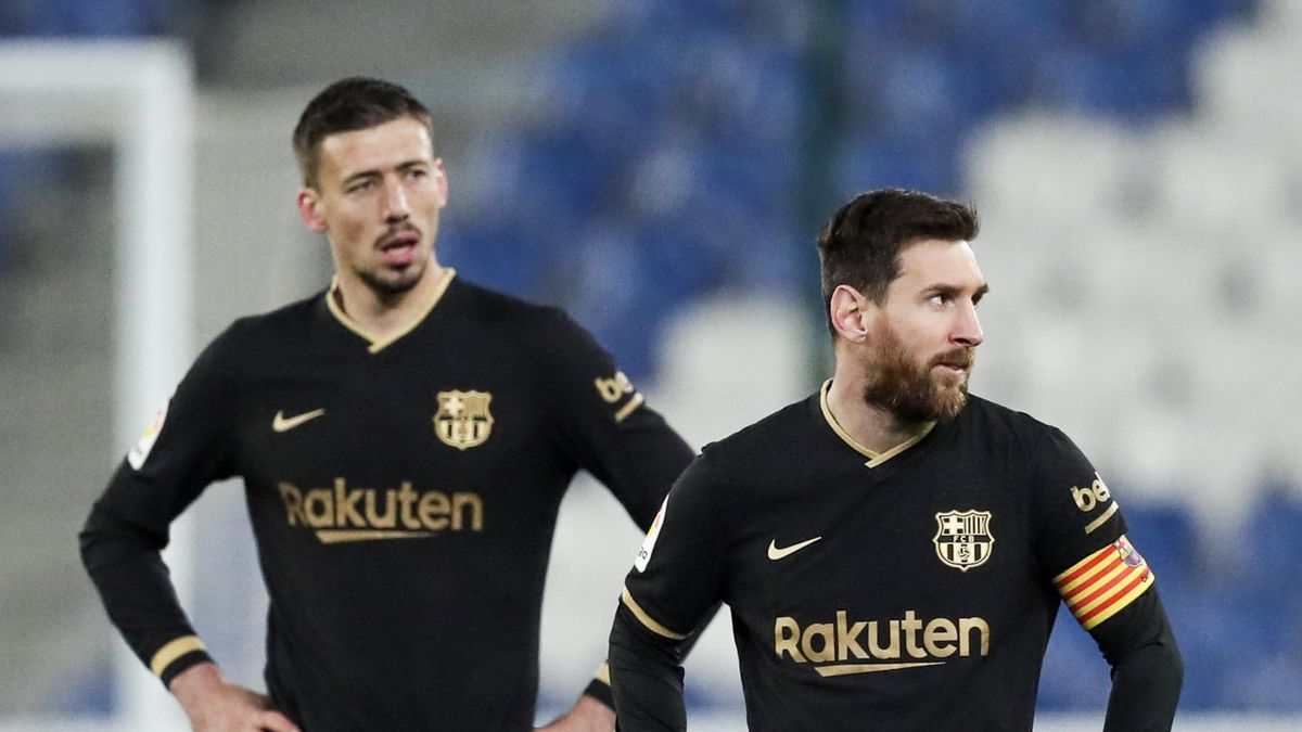 Lenglet and Messi in action for Barca