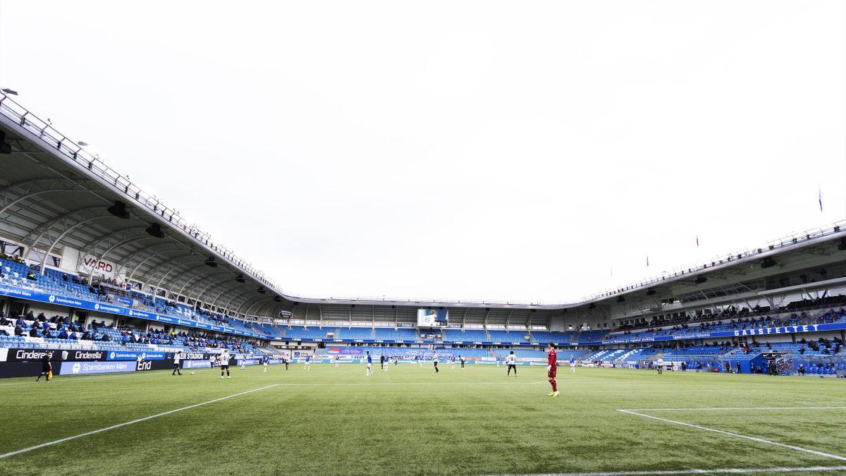 Aker Stadion underveis i kampen mellom Molde og KBK