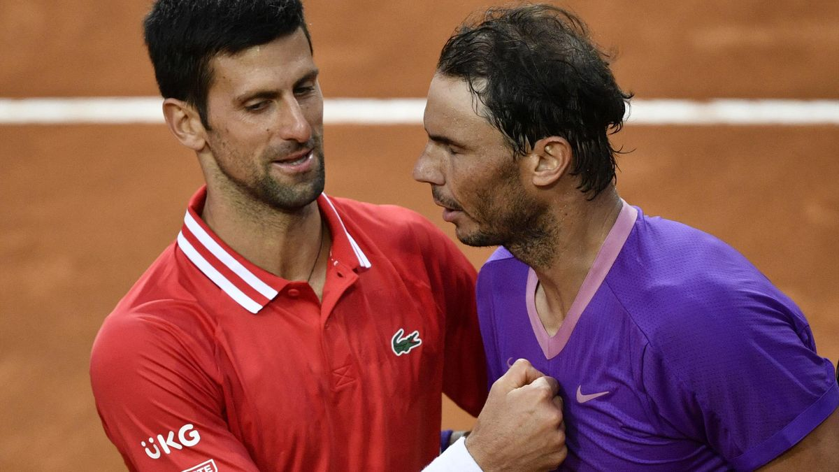 Djokovic (l.) konnte Nadal in Paris einmal bezwingen