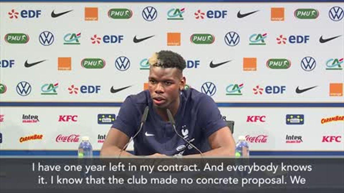 'No concrete proposal' Pogba on rumoured Man Utd contract talks