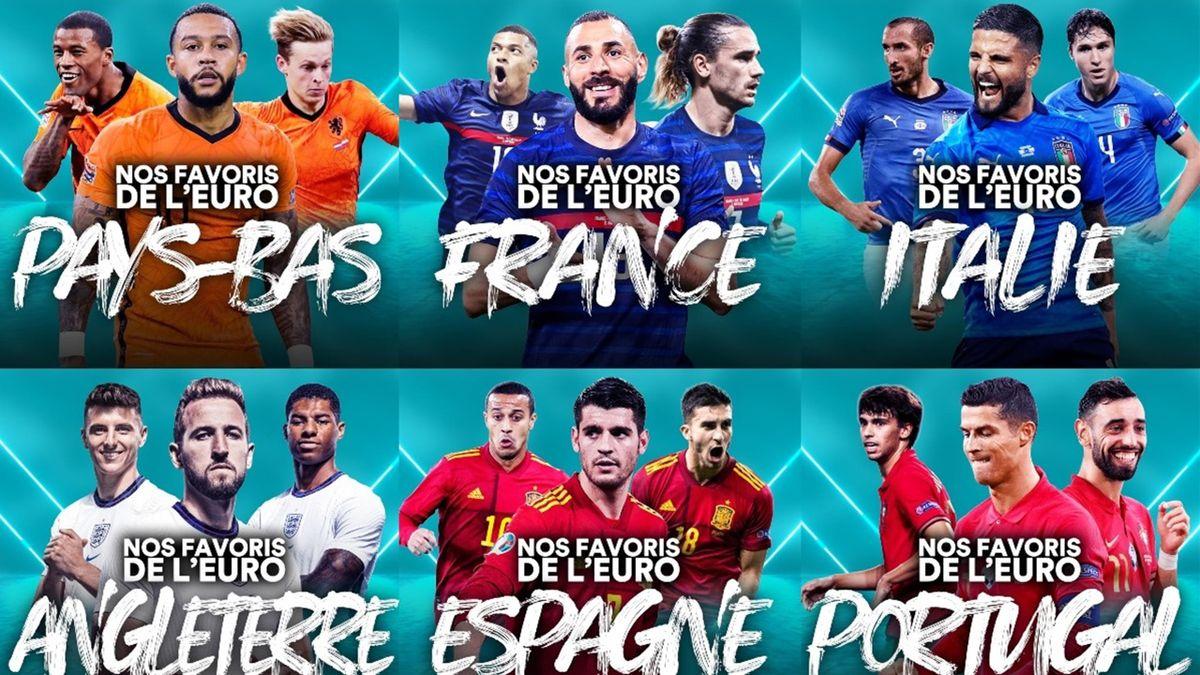 Nos favoris de l'Euro 2020