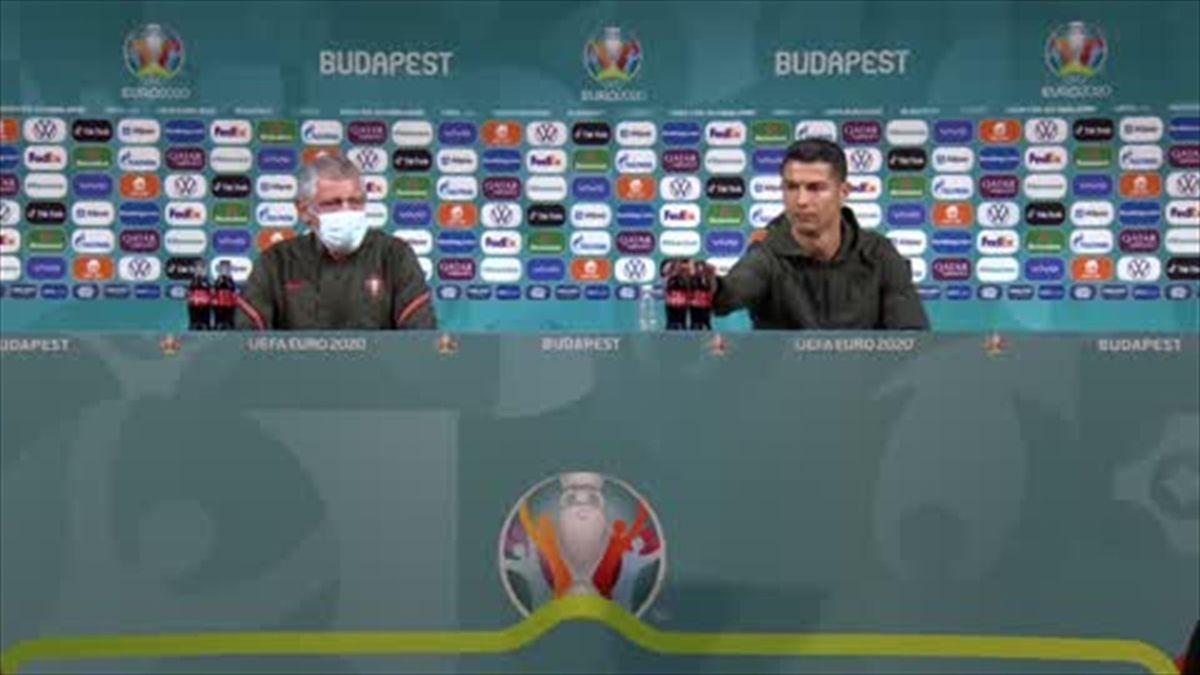 Moment: Euro 2020 Ronaldo Water