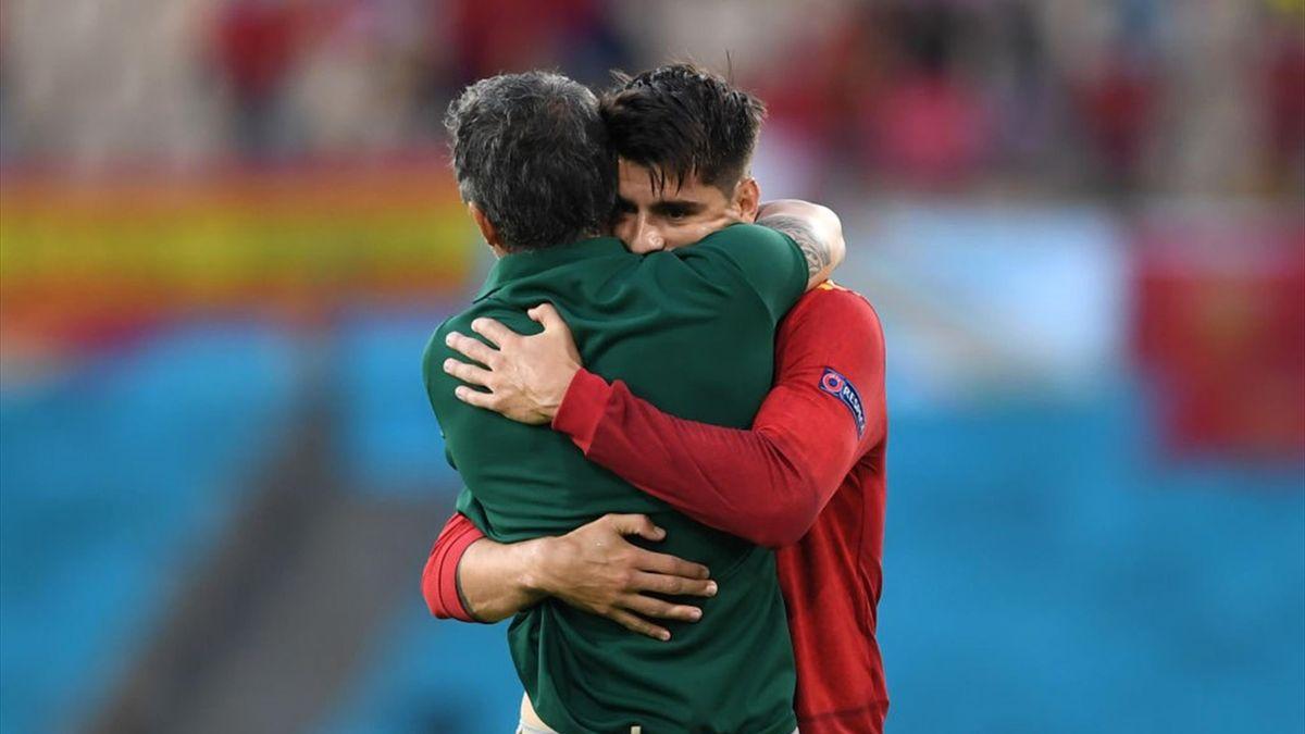 Morata dedica il gol a Luis Enrique in Spagna-Polonia, Euro 2020
