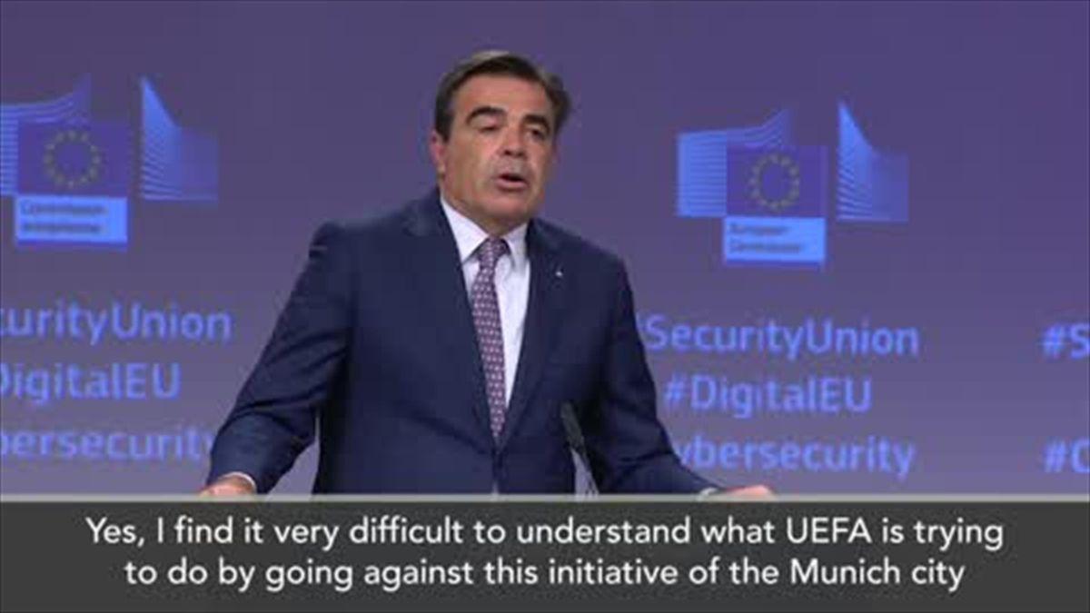 EU says UEFA has no 'excuse' for blocking rainbow protest
