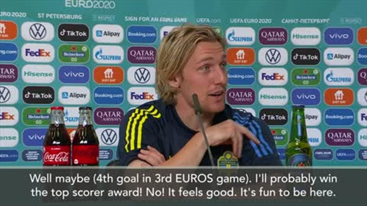 'I'll probably end up top scorer of Euros!' jokes Sweden hero Forsberg
