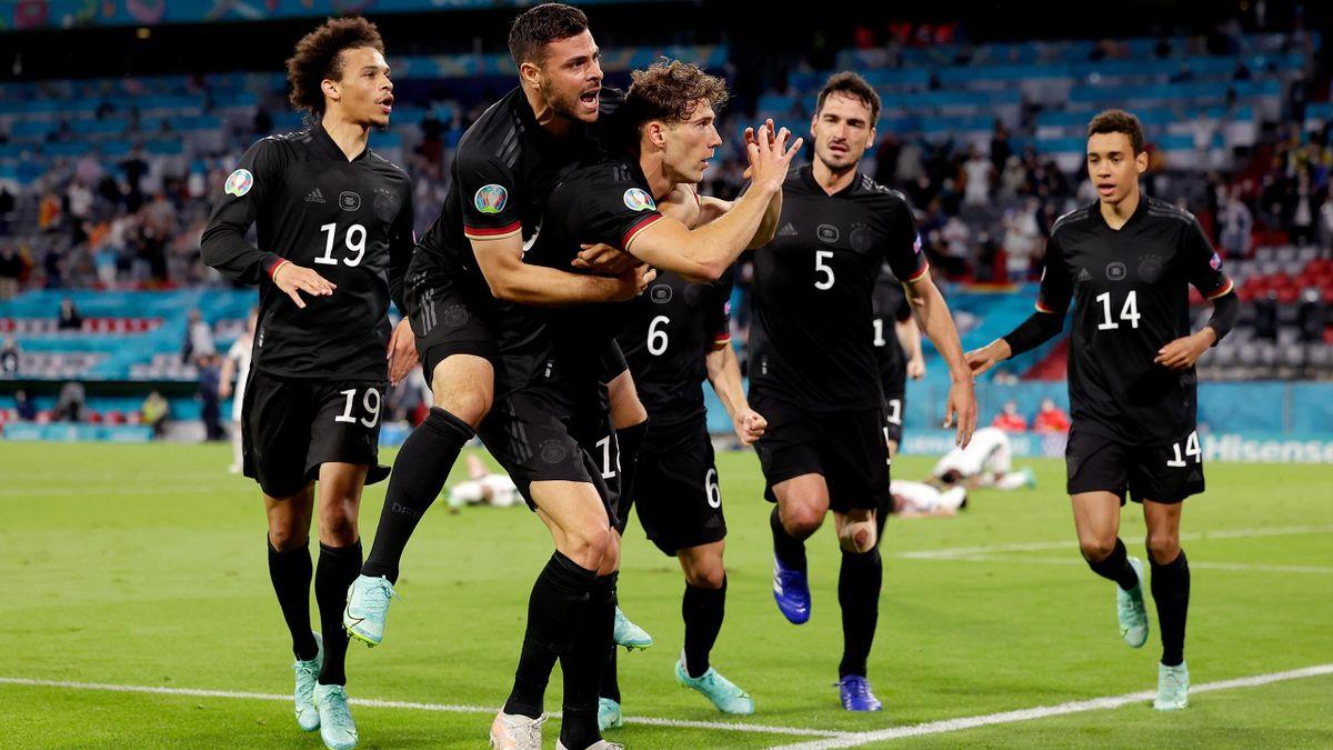 Leon Goretzka dopo il gol del 2-2 in Germania-Ungheria