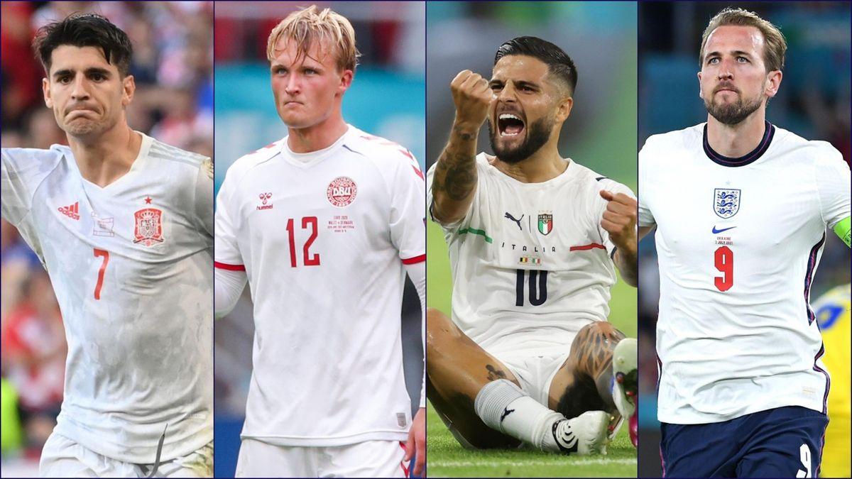 Alvaro Morata (Espagne) - Kasper Dolberg (Danemark) - Lorenzo Insigne (Italie) - Harry Kane (Angleterre)