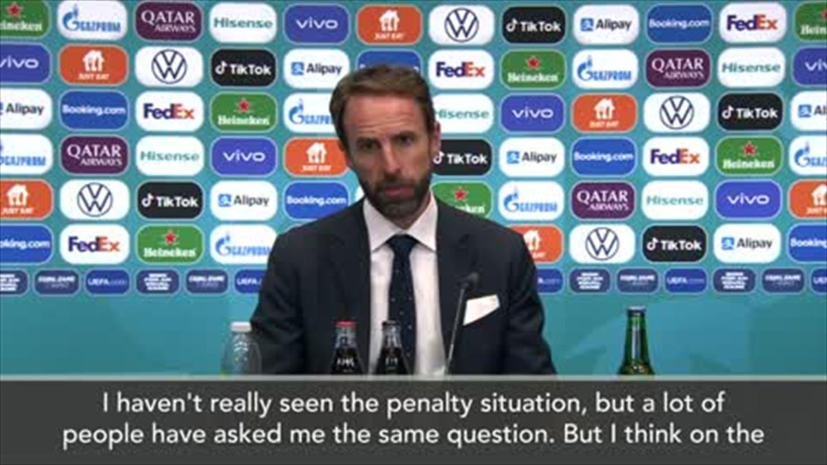 Southgate admits England penalty was 'soft'