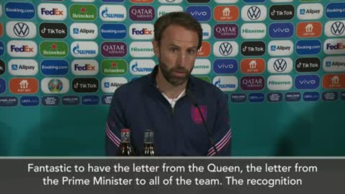 'Letter from the Queen fantastic before the final' - Southgate
