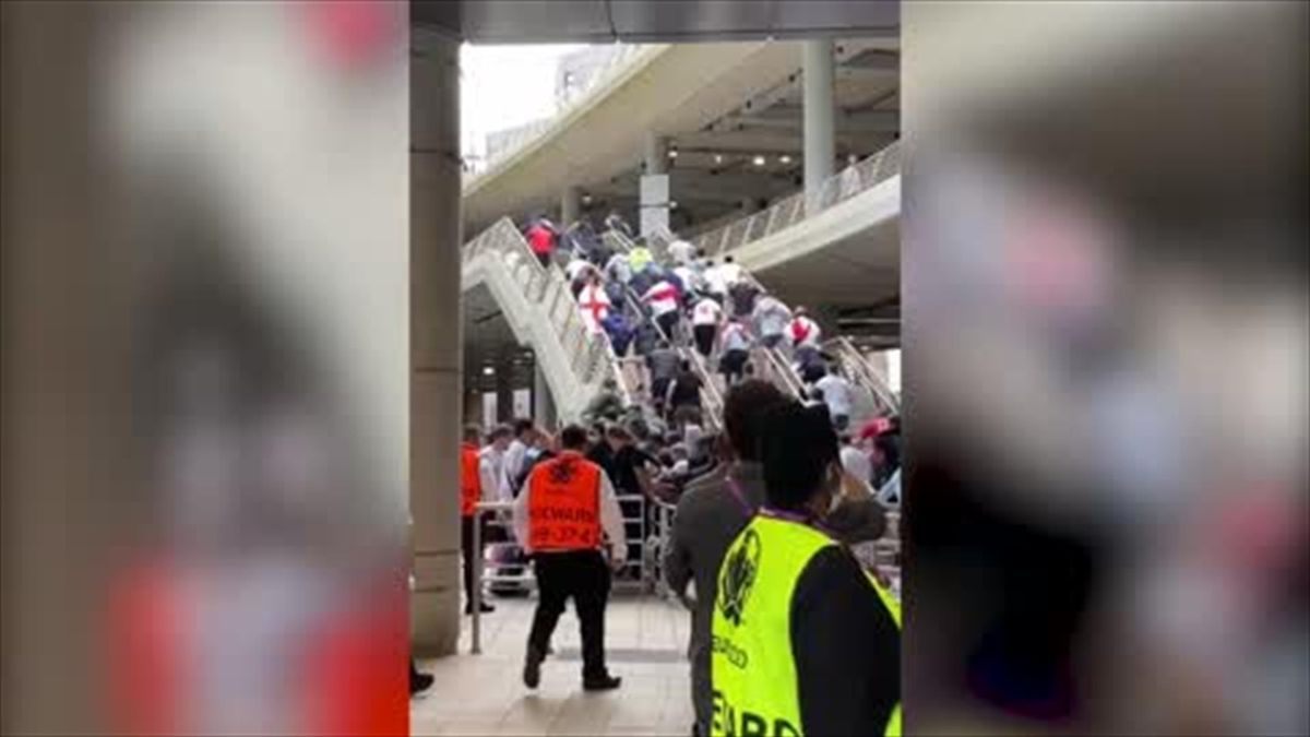 WATCH - Fans storm Wembley despite not having tickets