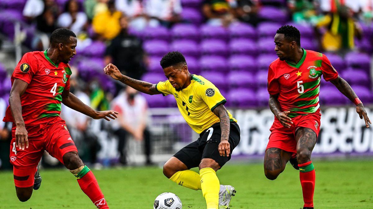 Gold Cup: Einzug ins Viertelfinale für Leon Bailey (m.) und Jamaika