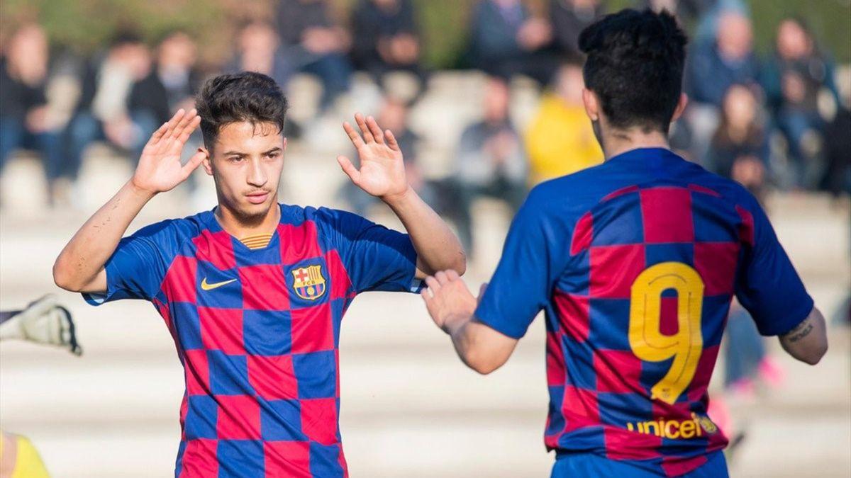 Zacarías Ghailán con el Barça B