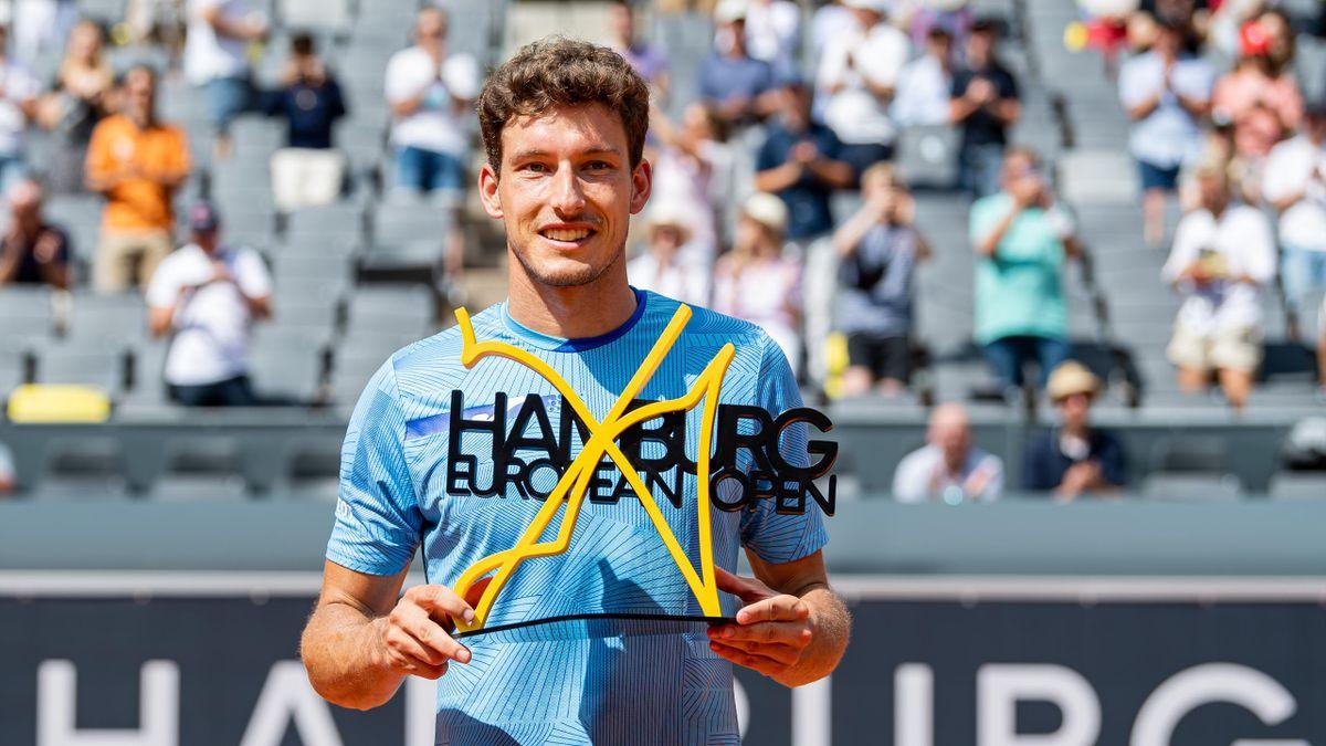 Pablo Carreño conquista su mayor título al derrotar al serbio Filip Krajinovic en la final de Hamburgo en dos sets.