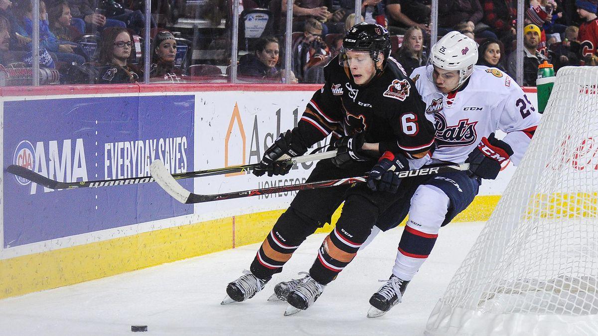 Luke Prokop (L.) hat sich als erster NHL-Profi geoutet