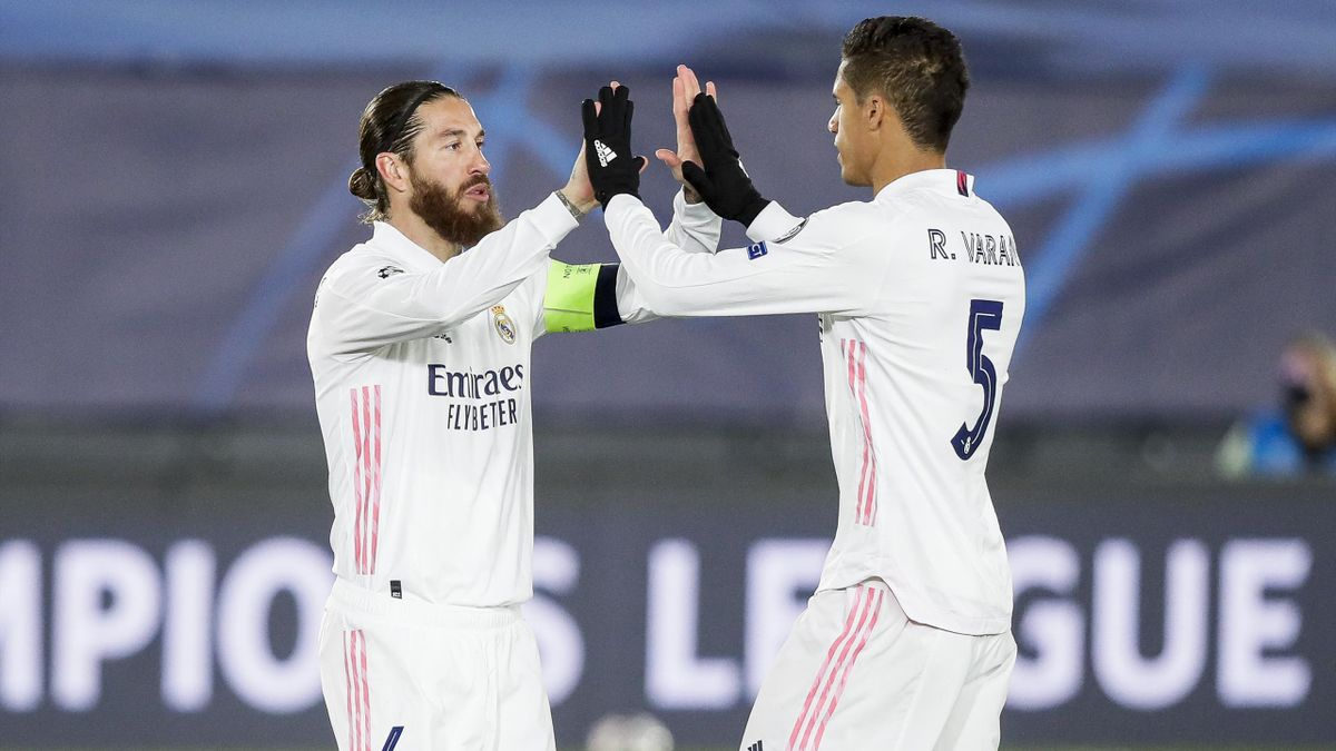 Ramos y Varane en el Real Madrid