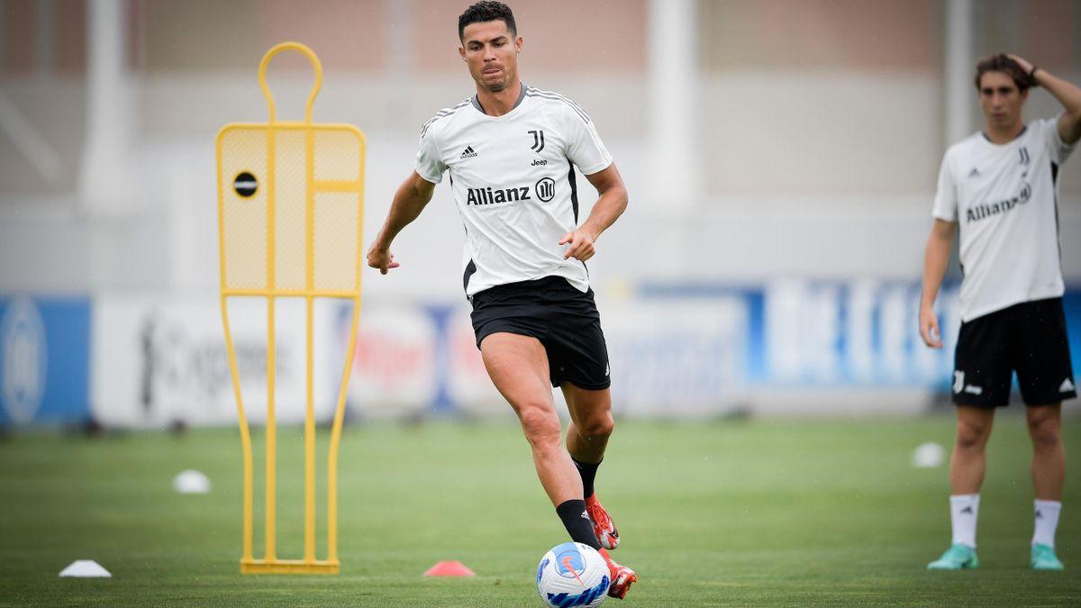 Cristiano Ronaldo, allenamento Juventus