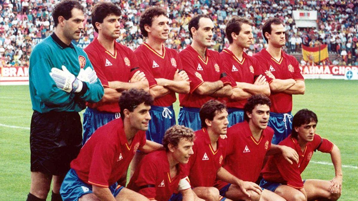 La Selección Española en 1990