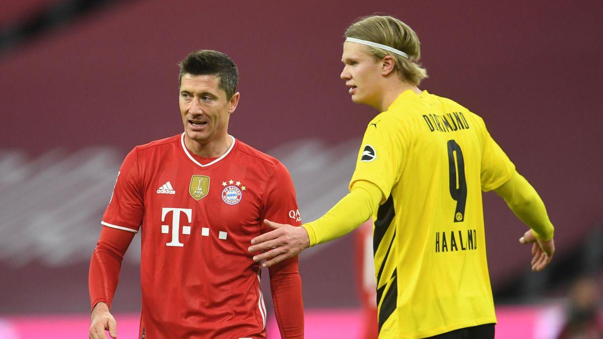 Lewandowski y Haaland frente a frente en la Supercopa