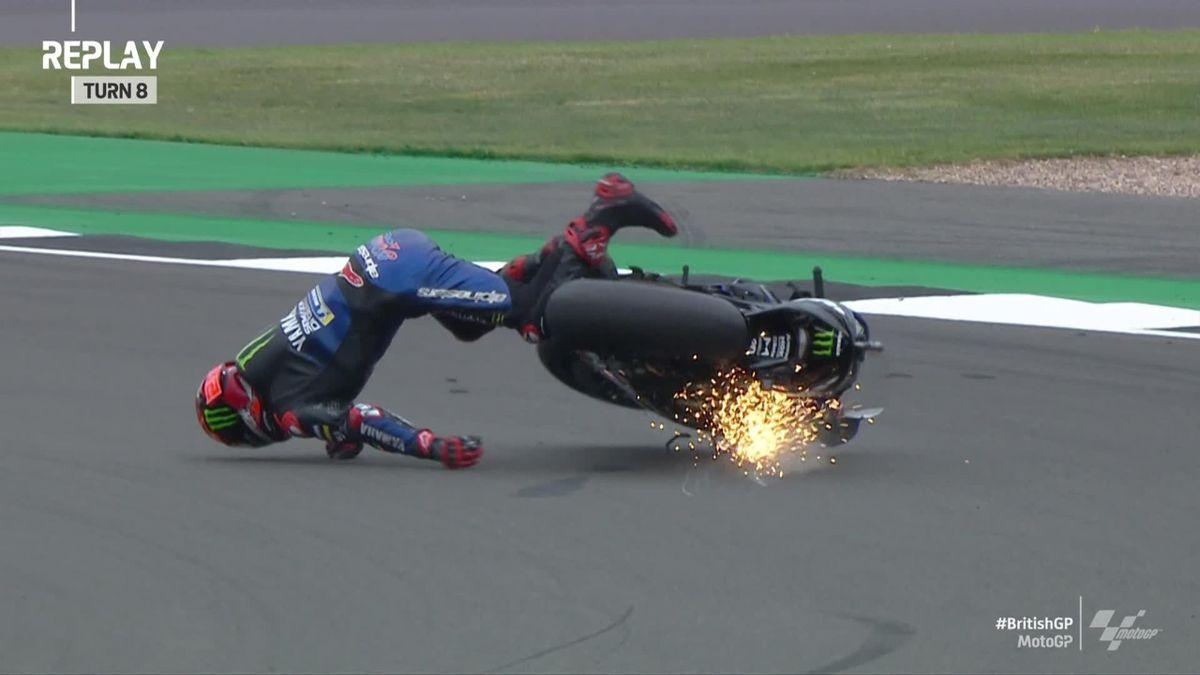 MotoGP   Quartararo loopt pijnlijke enkel op bij val in vrije training