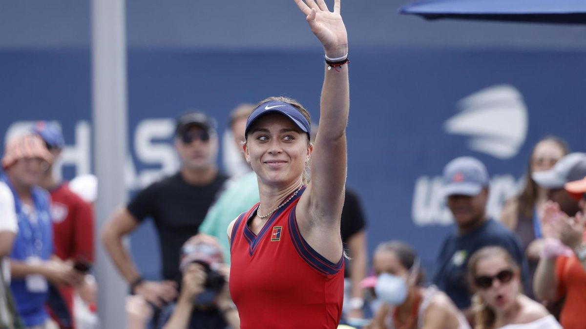 Paula Badosa celebra su victoria en el US Open