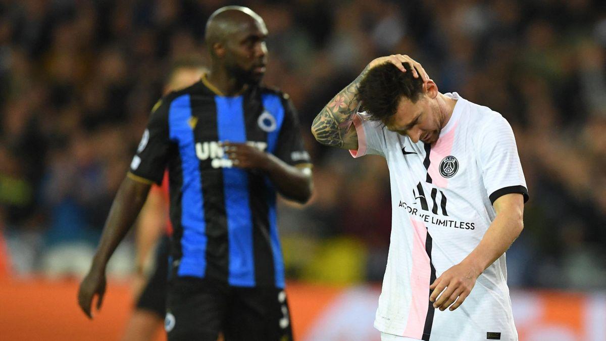 Messi en el Brujas-PSG
