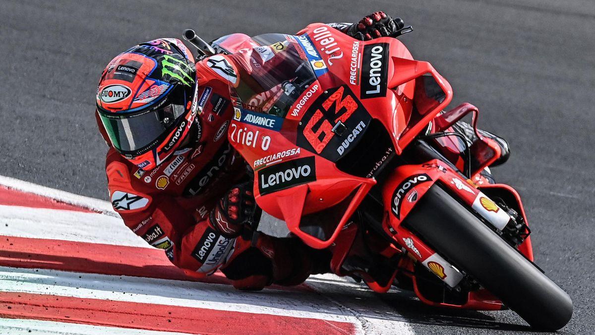 Pecco Bagnaia en el GP de San Marino