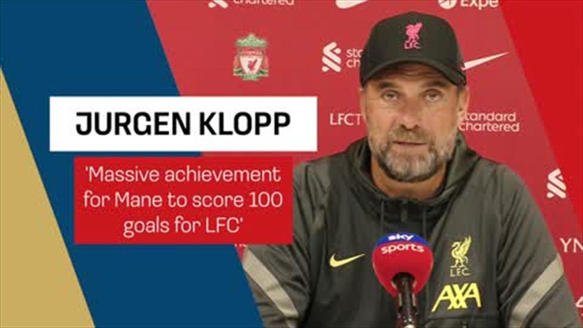 'Massive achievement for Mane to score 100 goals for LFC' - Klopp