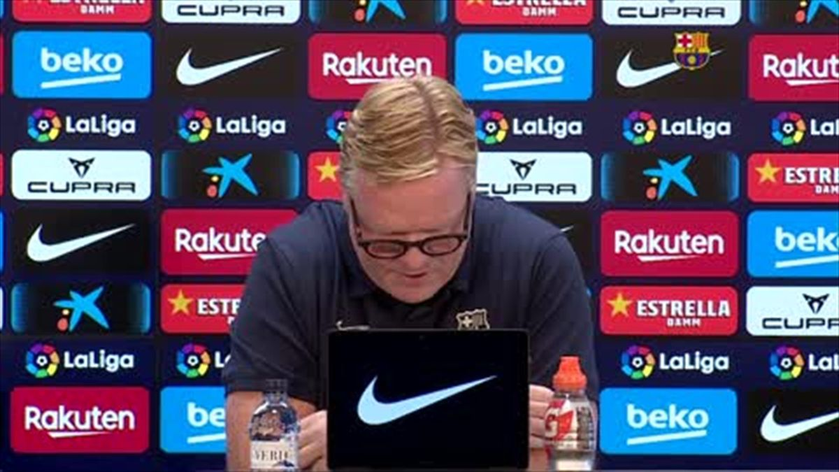 'Thank you' - Watch the moment Koeman walks out of press conference