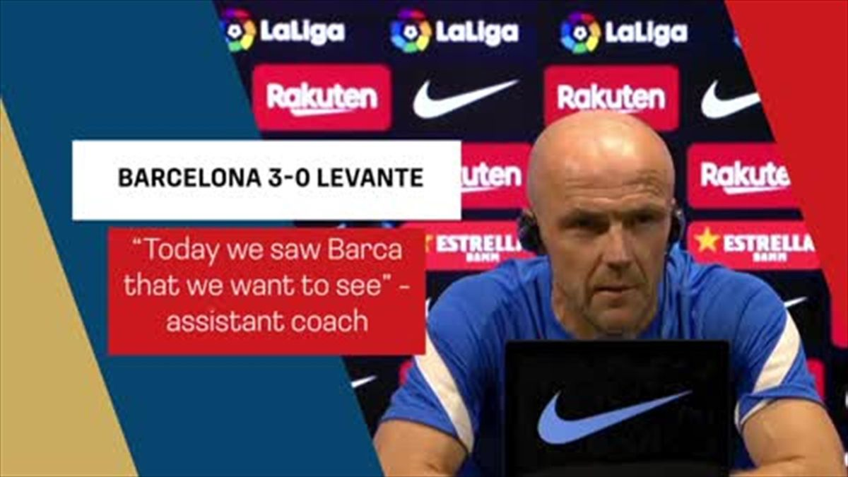 'You saw Barca that you want to see' - assistant coach Schreuder after a 3-0 win over Levante