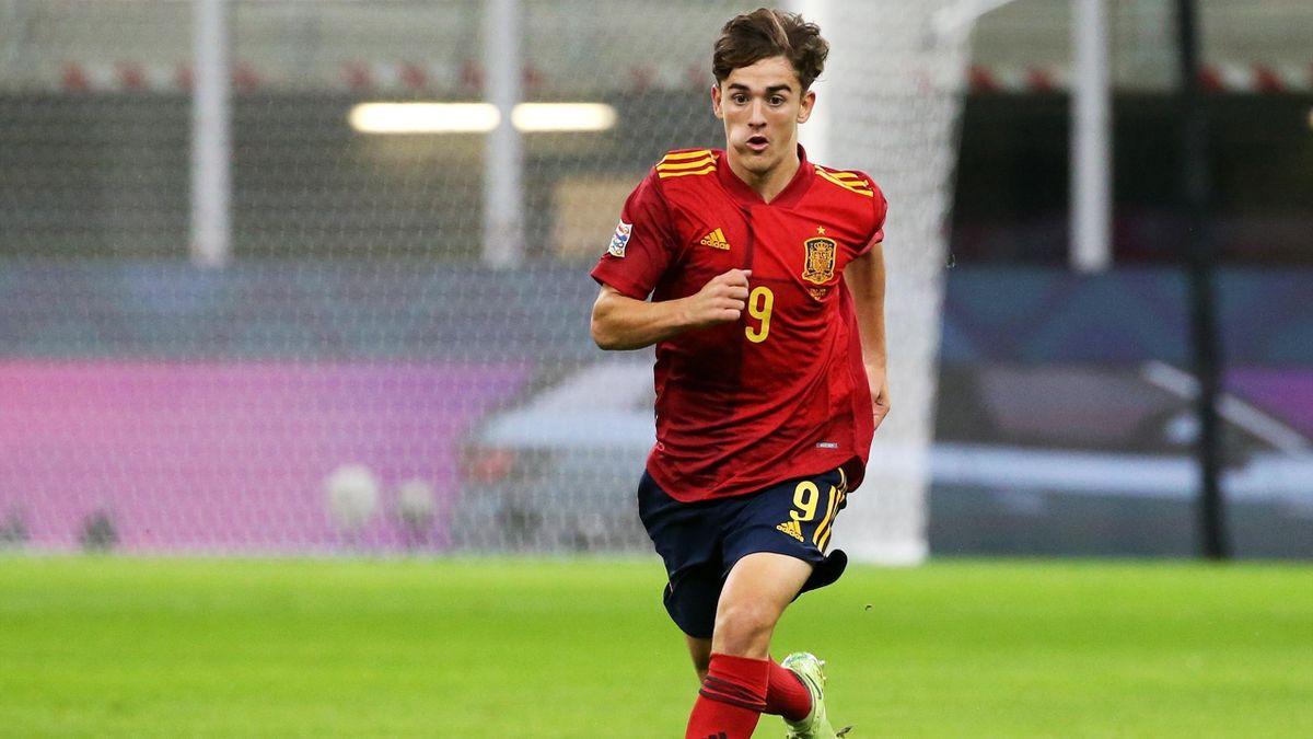 Gavi, en su debut con la selección española absoluta