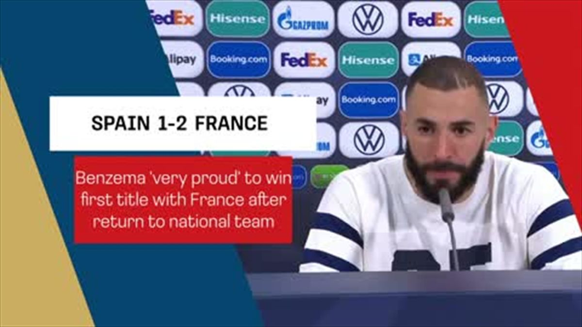 Benzema 'very proud' to win first title with France
