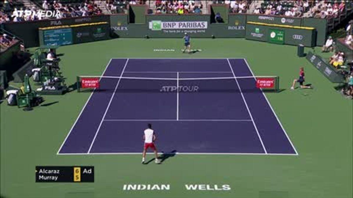 Highlights: Murray digs deep to beat rising star Alcaraz at Indian Wells