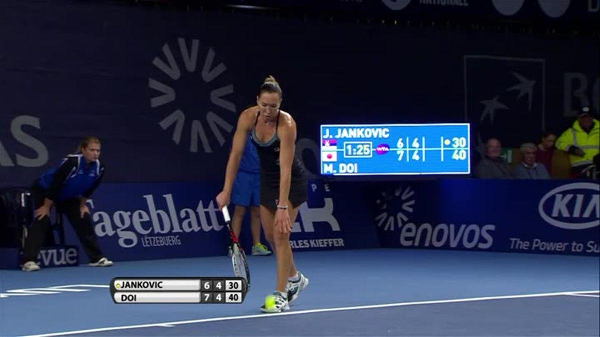 Don't miss : Jankovic - Doi Break point won