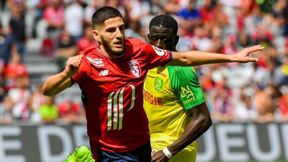 Yassine Benzia (Lille) face à Nantes - 1ère journée de Ligue 1