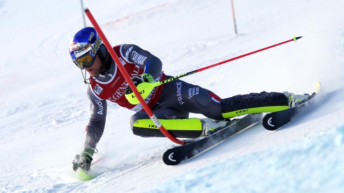 Alexis Pinturault lors du slalom de Val d'Isère